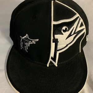 New Era Florida Marlins Black Throwback Fitted